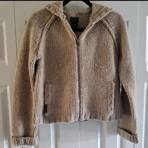 Abercrombie & Fitch Zip Up Hoodie Sweater Sand L